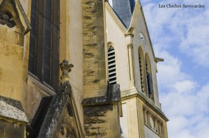 Détail du clocher et du transept.